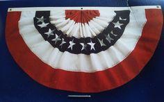 $24.99 Celebrate Americana Red White & Blue Large Bunting Patriotic NIB #Kohls