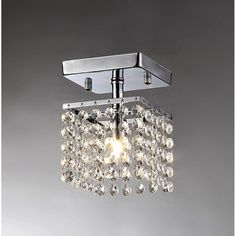 This Is A Small Chandelier With Clear Dangling Crystals Perfect Anywhere In