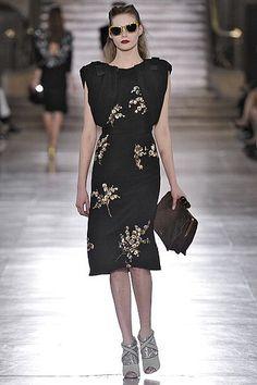 Gold sequin embellishments and fabulous shoes at Miu Miu. #fall2011 #miumiu #fashion