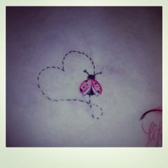 lady bug for grandma - love this idea. put it on a rose?