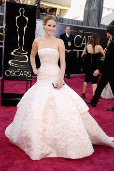 Gewinnerin 2013: Jennifer Lawrence in einem Oscar-würdigem Kleid von Dior.