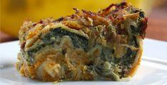 Creamily Juicy Pumpkin And Spinach Vegan Lasagna http://inourishgently.com/pumpkin-spinach-vegan-lasagna/