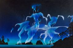 The Roger Dean Gallery is the online home of iconic album cover artist Roger Dean. Browse the galleries, shop fine art prints, original paintings and sketches, or keep up to date with Roger's events and exhibitions in History Of Illustration, Illustration Art, Cool Pixel Art, Cool Art, Roger Dean, Dragon Dreaming, Haunted Forest, 70s Sci Fi Art, Witch Art