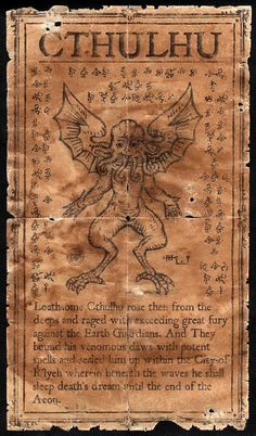 Graven Image of Cthulhu by JasonMcKittrick.deviantart.com on @deviantART