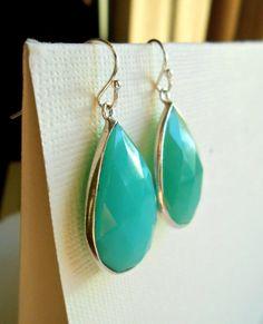 Chrysoprase Gemstone Earrings