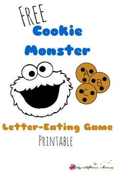 Letter-Eating Cookie Monster Printable Game Free Cookie Monster Letter-Eating Game Printable: Hands-on alphabet learning with an easy tissue box toy Monster Activities, Monster Crafts, Alphabet Activities, Toddler Activities, Toddler Crafts, Alphabet Games, Alphabet Crafts, Alphabet Letters, Preschool Literacy