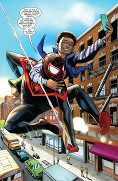 Spider-Man's New Friend Miles Morales Spiderman, Geek Culture, New Friends, A Good Man, Shit Happens, Guys, Comics, Comic Books, Comic Book