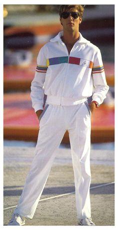 80s Fashion Men, Tennis Fashion, 2000s Fashion, Vintage Tracksuit, Mens Tracksuit, Vintage Sportswear, Track Suit Men, Tennis Clothes, Mode Vintage