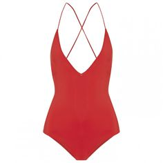 Red Swimsuits Are the Summer Trend You'll Want to Shop Now: Emma Pake Antonia Lace-Up Swimsuit. | Coveteur.com
