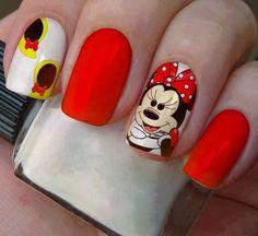 Nails в 2019 г. Minnie Mouse Nails, Disney Nails, Kit, Nail Art, Emoji, Pasta, Instagram, Edgy Nail Art, Art Nails