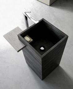 12 very modern pedestal sinks to revamp the bathroom Ideal Bathrooms, Beautiful Bathrooms, Modern Bathroom, Small Bathroom, Luxury Bathrooms, Bathroom Basin, Bathroom Toilets, Modern Pedestal Sink, Beton Design