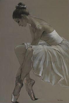 by Katya Gridneva, Ukraine Art Ballet, Ballerina Painting, Ballet Dancers, Ballerina Drawing, Dancer Drawing, Ballerina Project, Ballet Drawings, Dancing Drawings, Art Drawings