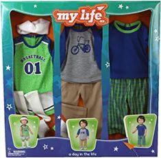 My Life as School Boy 3 Sets 11 PC Clothes Pajamas for Doll for sale online Boy Doll Clothes, Barbie Clothes, My American Girl Doll, Boys Online, Dolls For Sale, School Boy, Knitted Dolls, Doll Crafts, The Life