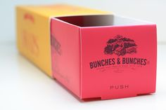 Pull-out spaces: informative packaging with room to spare. Bunches & Bunches Snaps Packaging