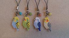 Brick stitch parakeets