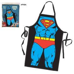 Dc Comics Superman Be the Hero Apron - New - Novelty & Fun Stuff Superman Characters, Black Apron, Bbq Apron, People Shopping, Character Costumes, Man Of Steel, Dc Comics, Geek Stuff, Fun Stuff