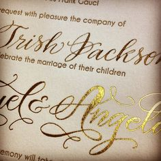 Whether it is gold ink, gold foil, or gold calligraphy, our couples just can't get enough of that gold goodness!
