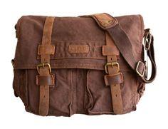 "Clelo Men's Trendy ""Colonial"" Italian Style Messenger Bag with Leather Straps (Dark Coffee) Clelo http://www.amazon.com/dp/B00J08VFAM/ref=cm_sw_r_pi_dp_EU02tb0QVH3QGY7W"