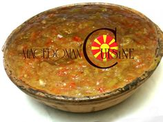 MACEDONIAN CAVIAR (WITH EGGPLANTS, TOMATOES AND PEPPERS) Main dish, SaladsMACEDONIAN CAVIAR (WITH EGGPLANTS, TOMATOES AND PEPPERS) Baked Peppers, Roasted Peppers, Mimosa Salad, Shopska Salad, Dinosaur Food, Sour Cabbage, Macedonian Food, Food Tags, Food Dishes