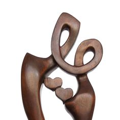 "Wood sculpture ""Eternal love"" (110.00 EUR) by Woodinthemood"