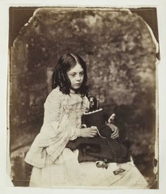 Lorina Liddell sister (Alice Liddell inspiration for Alice's Adventures in Wonderland) Photo by Lewis Carroll (Charles Lutwidge Dodgson real name)