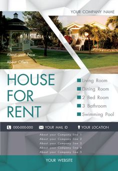 A Printable Flyer For Advertising An Apartment For Rent