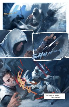 Assassin's Creed Graphic Novel / the art of David Levy 01-06