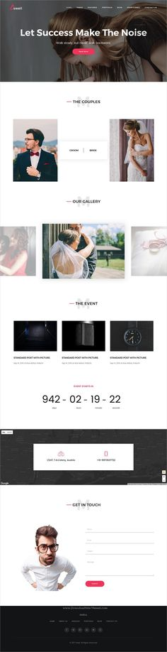 Swell is clean and modern design responsive #HTML template for stunning #wedding website with 18+ niche homepage layouts download now..