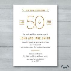50th anniversary invitation golden invite 50th anniversary anniversary party invitation wedding anniversary party invitation anniversary invite stopboris Images