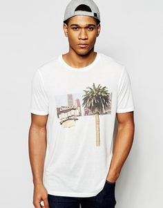 ASOS Relaxed Skater T-Shirt With Palm And USA Print