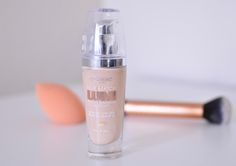 L'Oreal True Match Lumi Foundation in n 1-2. According to the makeup artist Jaclyn Hill, Loreal Lumi is a dupe for Armani's foundation.