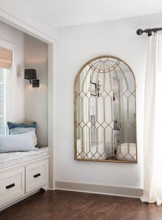 Episode 2 of season 5 | HGTV's Fixer Upper with Chip and Joanna Gaines arched mirror