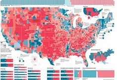 Designed By Ella Koeze For FiveThirtyEight US Election - Blended map of the us election