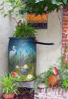 How to Paint Rain Barrels | Environmental Art: Local rain barrel takes first prize in nationwide ...
