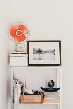 orang fan blades look so stylish with neutral surroundings. | DEAR IRIS a lifestyle blog: MINTED AT HOME