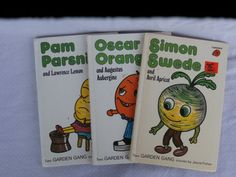3 Vintage Garden Gang Books by Jayne Fisher bySimon Swede, Pam Parsnip, Oscar Orange, $9.99