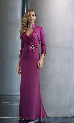 Chiffon Mother of the Bride Dress with Jacket by Mori Lee at PromGirl.com