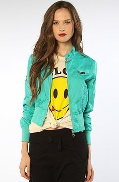 Members Only The Classic Nylon Bomber in Blue Members Only. $45.00