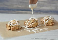 Gluten Free Iced Carrot Cake Cookies  http://www.fearlessdining.com  #glutenfree