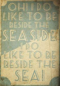 Vintage Seaside, Beach, Coastal Poster, A3 Print, wall art, home decor, retro, British:Amazon:Kitchen & Home