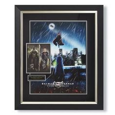 Commemorate 2016 biggest blockbuster with this framed, limited-edition Batman v Superman: Dawn of Justice poster. Featuring an inset    close-up of both the Dark Knight and the Man of Steel, each piece is hand-signed by the film stars, Ben Affleck and Henry Cavill.                Limited edition Batman v Superman: Dawn of Justice collectible                    Hand-signed by Ben Affleck (Batman) and Henry Cavill (Superman)                    Handcrafted wood frame                    Only...