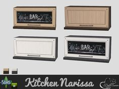 BuffSumm's Kitchen Narissa Upper Cabinet Single (not like EA's)