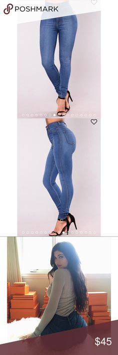Fashion Nova Classic High Waist Skinny Jeans New with tags. Medium blue wash. Size 11.    Say hi to your waist as you slip into our best-selling flexible stretch denim pants. The Classic High Waist Skinny Jeans feature a dark wash, 2 back pockets, 2 faux front pockets, a zip fly closure, and are available in Curve. Providing a seamless transition from day to night, these jeans are a wardrobe essential.   High Waist Skinny Jeans 2 Back Pockets Faux Front Pockets Great Stretch 31 Inch Inseam…