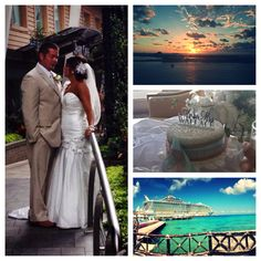 Here is a pin of the best wedding ever on a cruise ship! I looked everywhere for advice about getting married on a ship and didn't have any luck so here is some advice DO IT!!! Royal Caribbean Allure of the Seas!