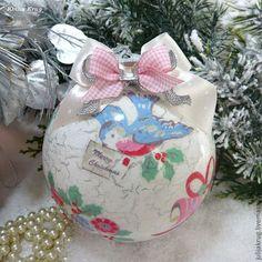 """Новый год 2015 ручной работы. Ярмарка Мастеров - ручная работа Новогодний шар """"Merry Christmas"""". Handmade."""