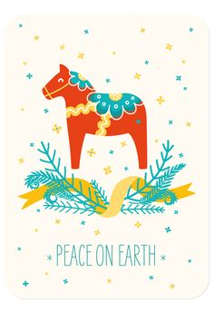 """Weihnachtspostkarte """"Peace on earth"""""""
