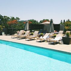 Lovely pool at @Bardessono in Yountville.