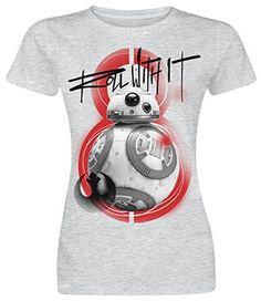 cc904ec5e Camiseta de Mujer Star Wars – The Last Jedi – BB8 – Roll With It