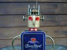 CROWN ROYAL  Found Object  Robot Sculpture by NutzenBoltsWorks, $159.00