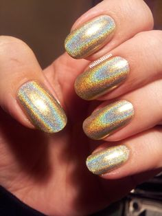 Gold holo Color Club Halo Hues